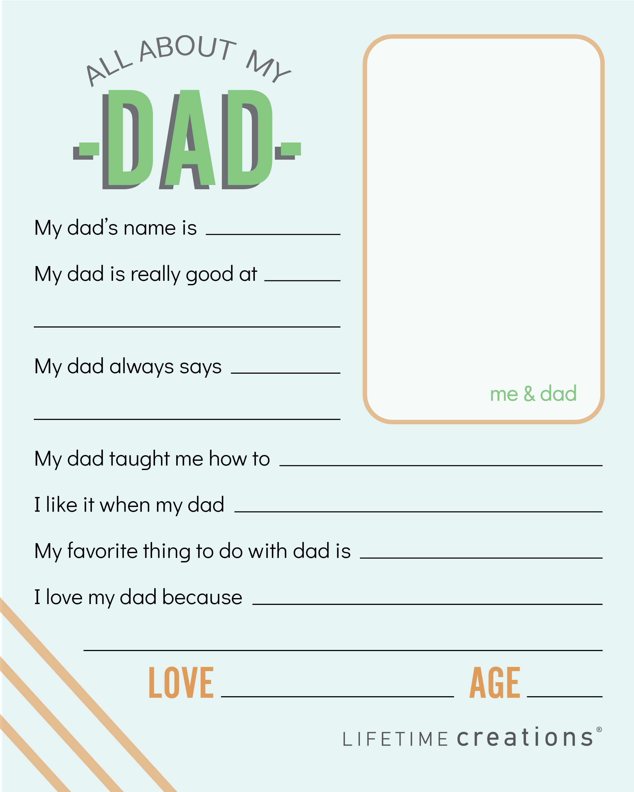 Free Printable Father S Day Coupons Questionnaire Lifetime Creations